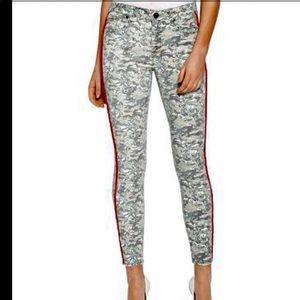 Parker Smith Ava tropical camo skinny jeans sz 29